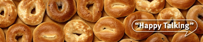 Happy Talking - smiling bagels